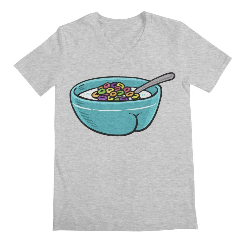 Cereal BUTT Men's V-Neck by Brian Cook