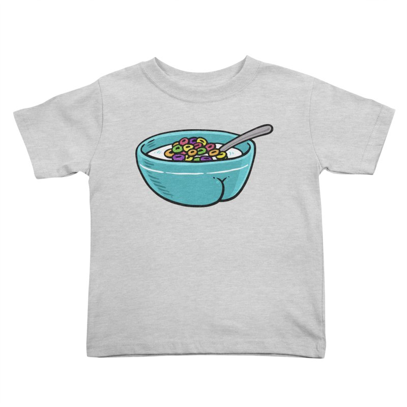 Cereal BUTT Kids Toddler T-Shirt by Brian Cook