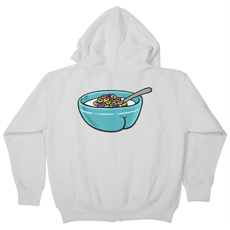 Cereal BUTT Kids Zip-Up Hoody by Brian Cook