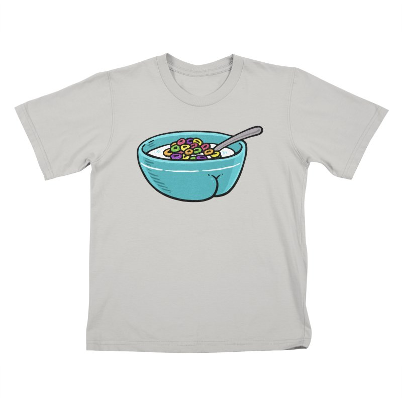 Cereal BUTT Kids T-shirt by Brian Cook