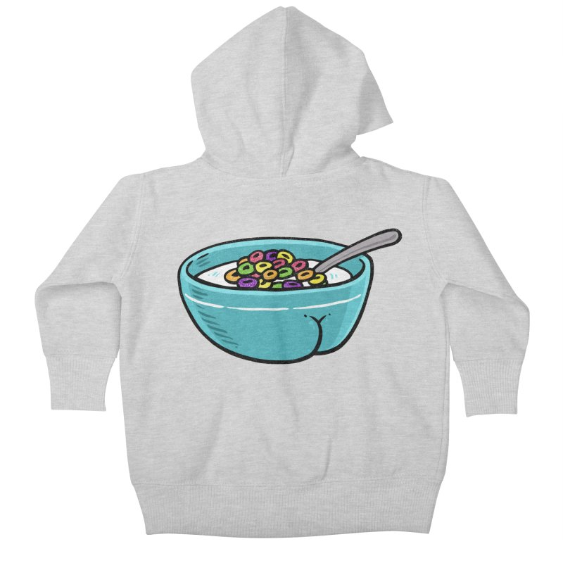 Cereal BUTT Kids Baby Zip-Up Hoody by Brian Cook