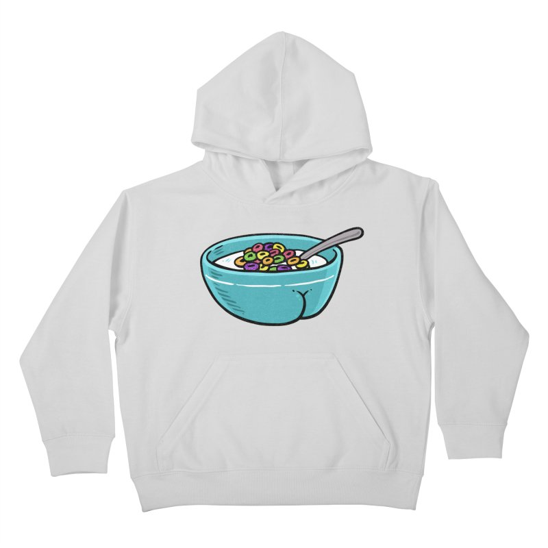 Cereal BUTT Kids Pullover Hoody by Brian Cook