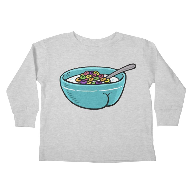 Cereal BUTT Kids Toddler Longsleeve T-Shirt by Brian Cook