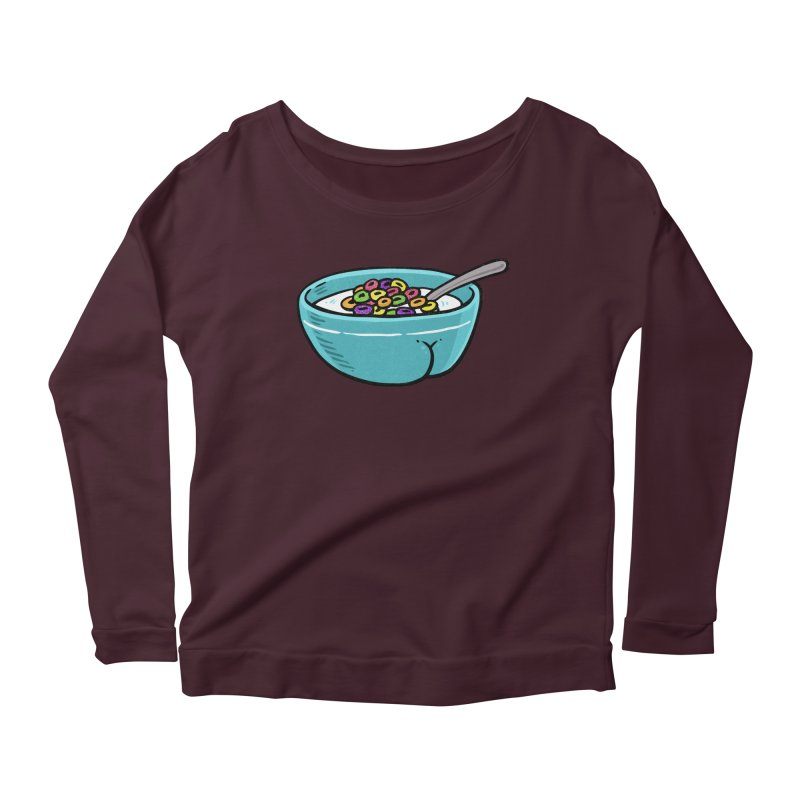 Cereal BUTT Women's Longsleeve Scoopneck  by Brian Cook