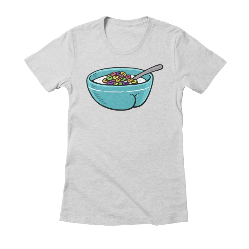 Cereal BUTT Women's Fitted T-Shirt by Brian Cook