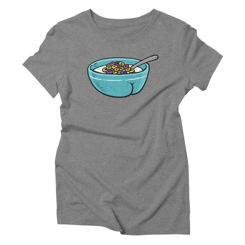 Cereal BUTT Women's Triblend T-Shirt by Brian Cook