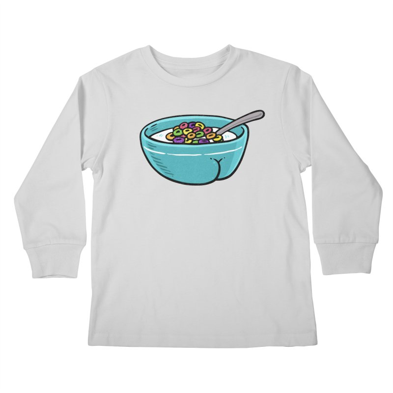Cereal BUTT Kids Longsleeve T-Shirt by Brian Cook