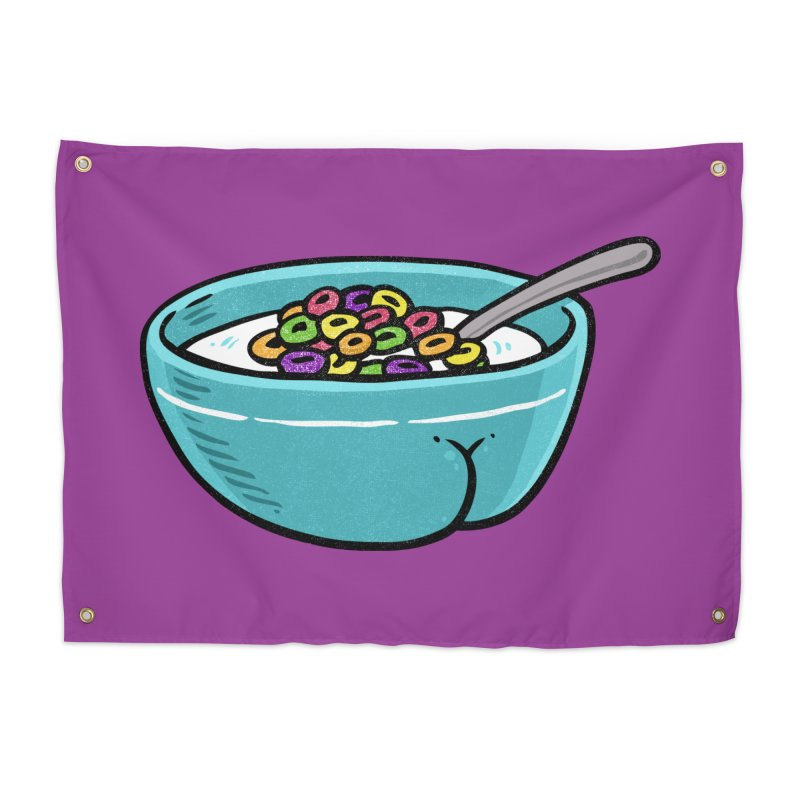 Cereal BUTT Home Tapestry by Brian Cook