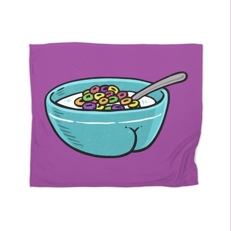Cereal BUTT Home Blanket by Brian Cook