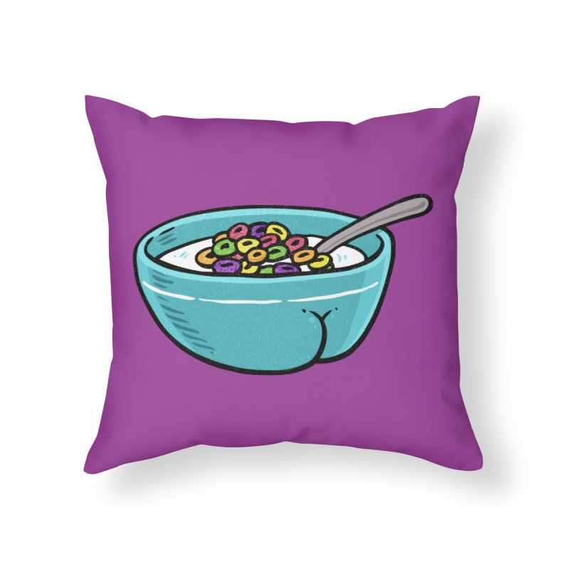 Cereal BUTT Home Throw Pillow by Brian Cook