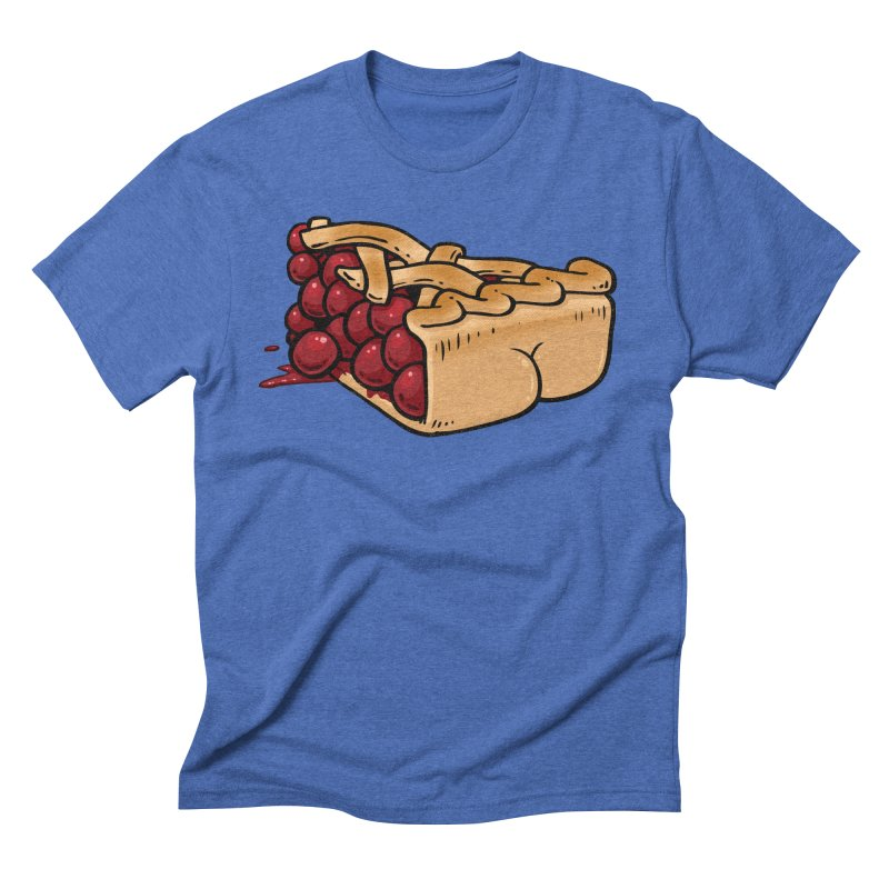 Pie Butt Men's Triblend T-Shirt by Brian Cook