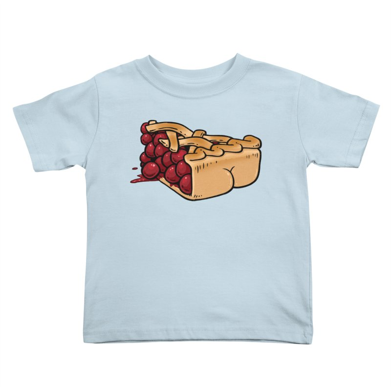 Pie Butt Kids Toddler T-Shirt by Brian Cook