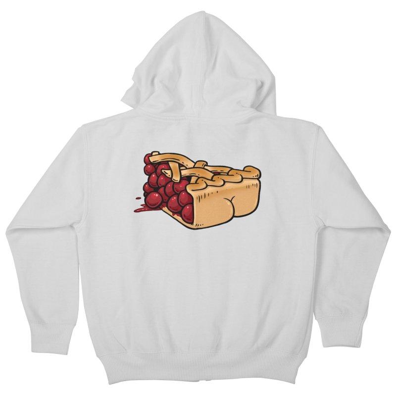 Pie Butt Kids Zip-Up Hoody by Brian Cook