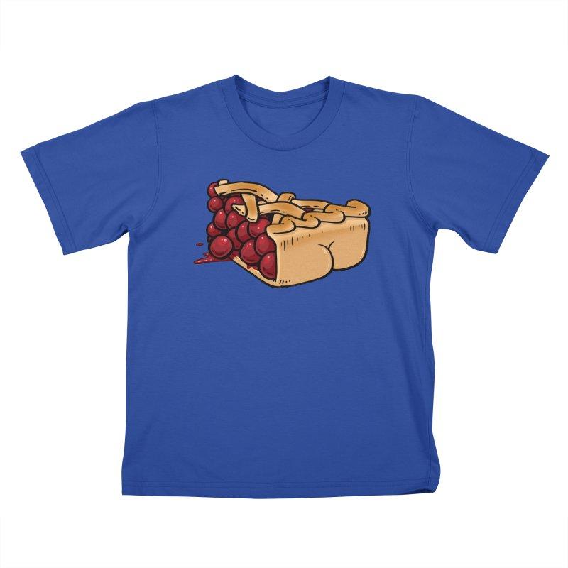 Pie Butt Kids T-shirt by Brian Cook