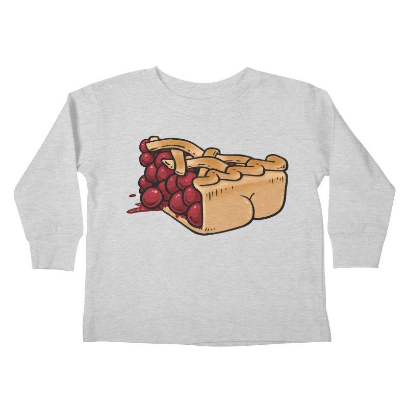 Pie Butt Kids Toddler Longsleeve T-Shirt by Brian Cook