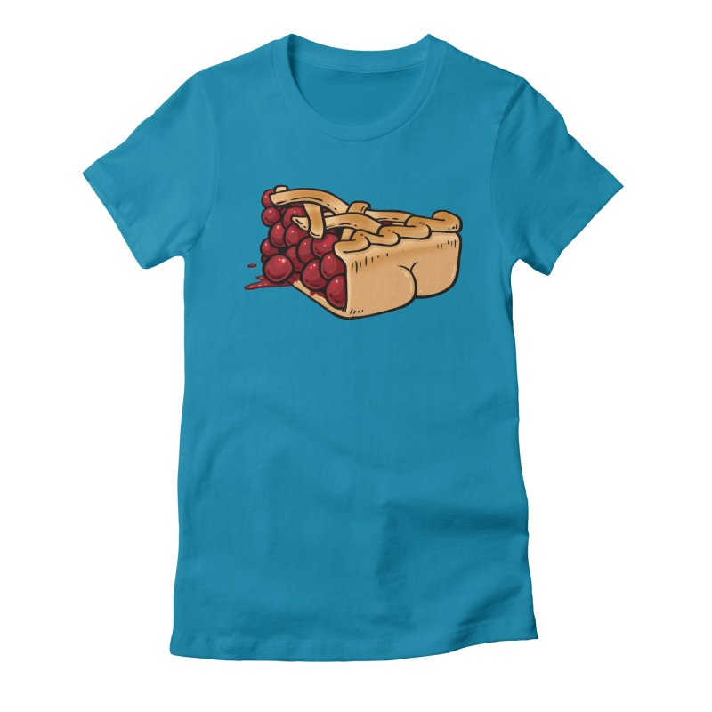 Pie Butt Women's Fitted T-Shirt by Brian Cook