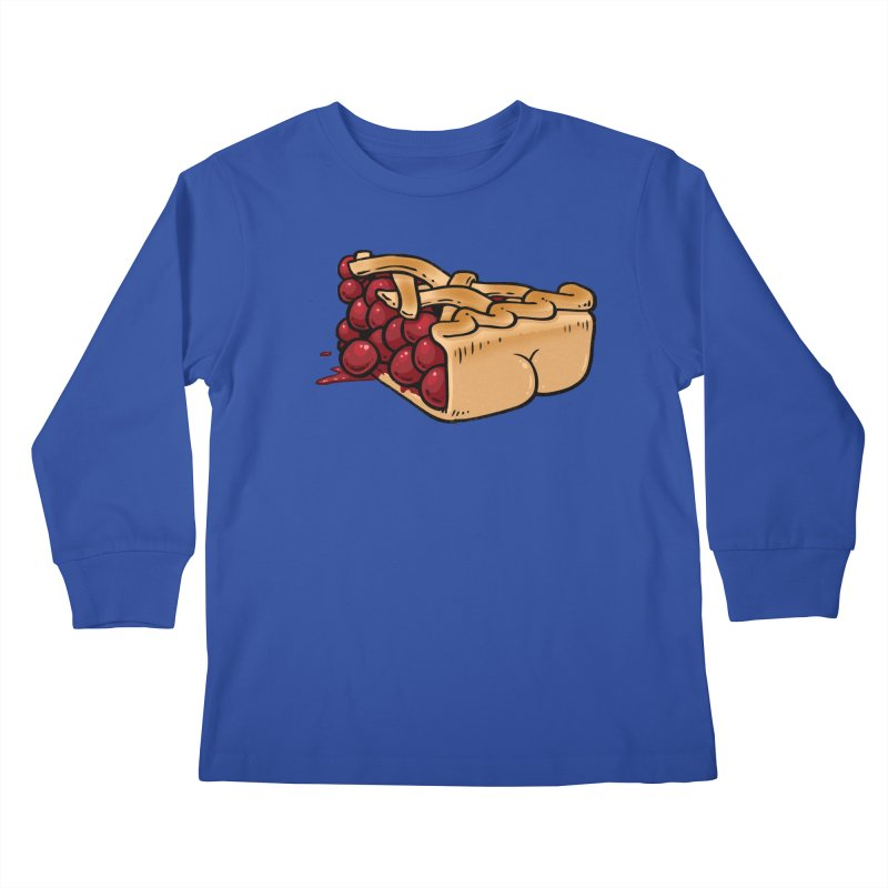 Pie Butt Kids Longsleeve T-Shirt by Brian Cook