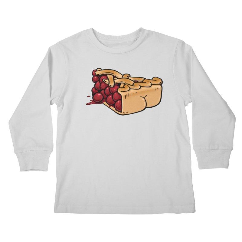Pie Butt Kids Longsleeve T-Shirt by Brian Cook