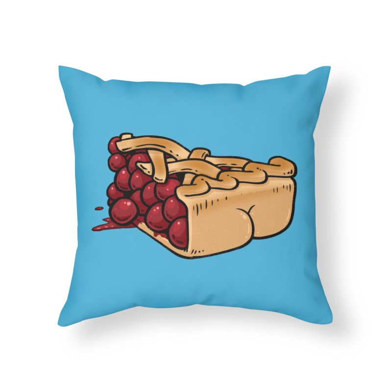 Pie Butt Home Throw Pillow by Brian Cook