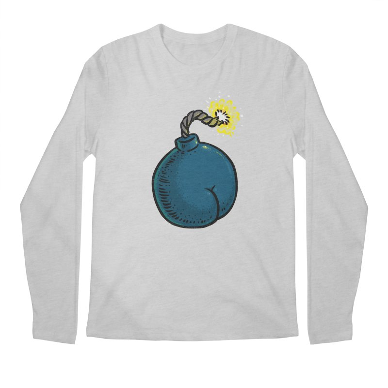 Butt Bomb Men's Longsleeve T-Shirt by Brian Cook