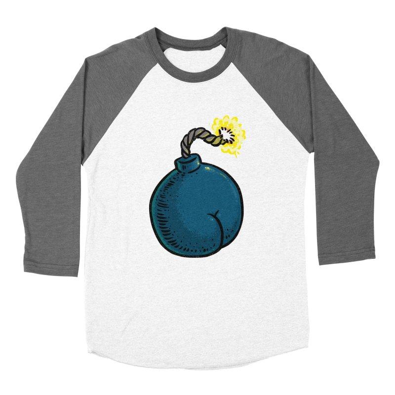 Butt Bomb Women's Baseball Triblend T-Shirt by Brian Cook