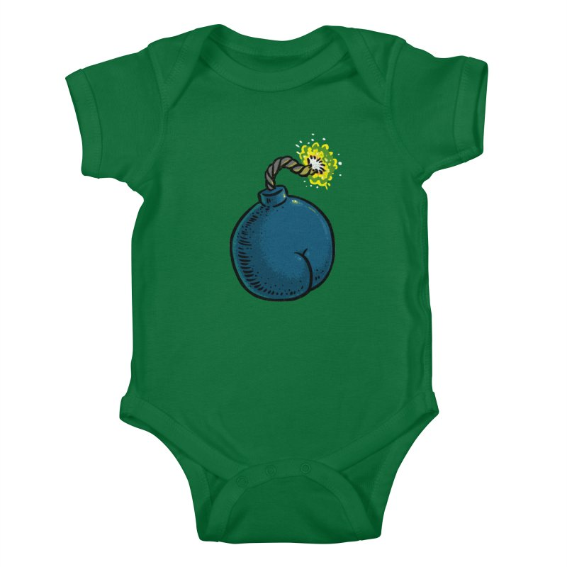 Butt Bomb Kids Baby Bodysuit by Brian Cook