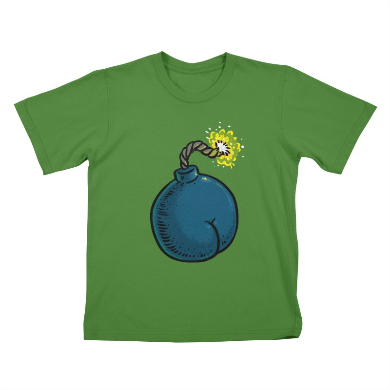 Butt Bomb Kids T-shirt by Brian Cook
