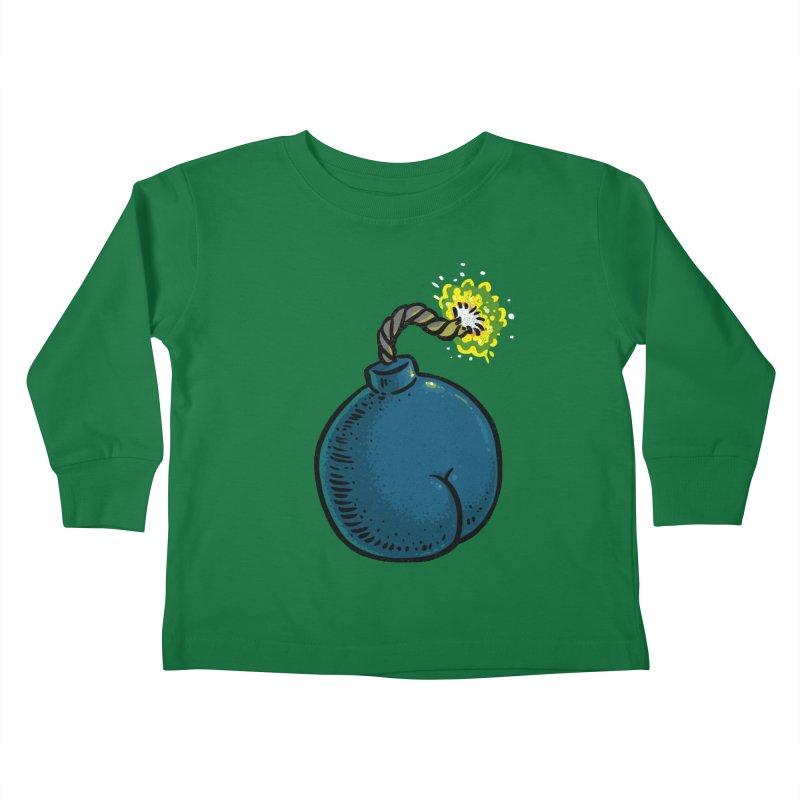 Butt Bomb Kids Toddler Longsleeve T-Shirt by Brian Cook