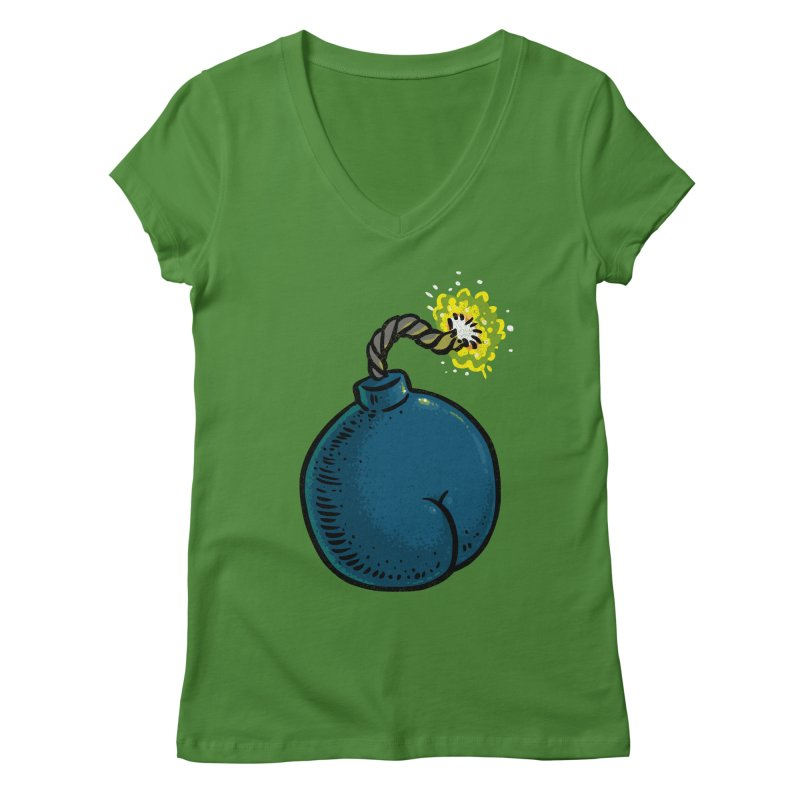 Butt Bomb Women's V-Neck by Brian Cook
