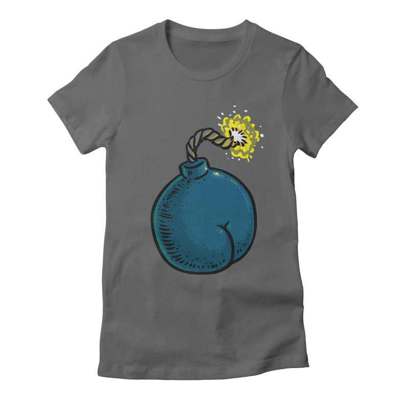 Butt Bomb Women's Fitted T-Shirt by Brian Cook