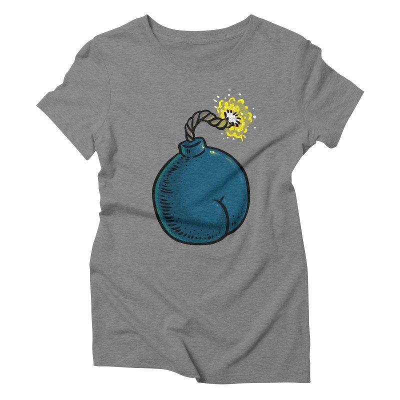 Butt Bomb Women's Triblend T-Shirt by Brian Cook