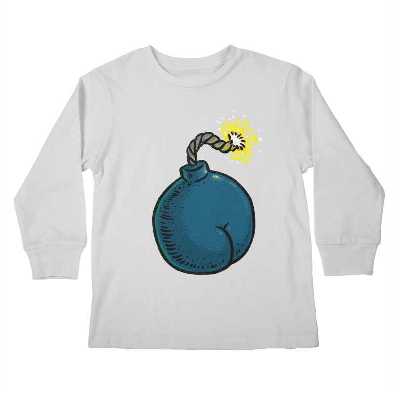 Butt Bomb Kids Longsleeve T-Shirt by Brian Cook