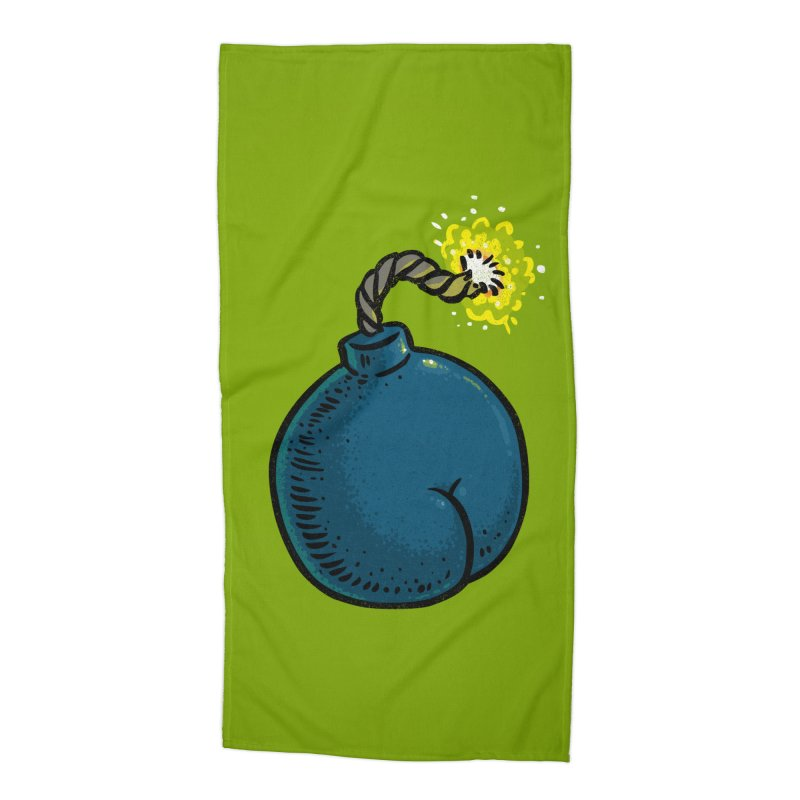 Butt Bomb Accessories Beach Towel by Brian Cook