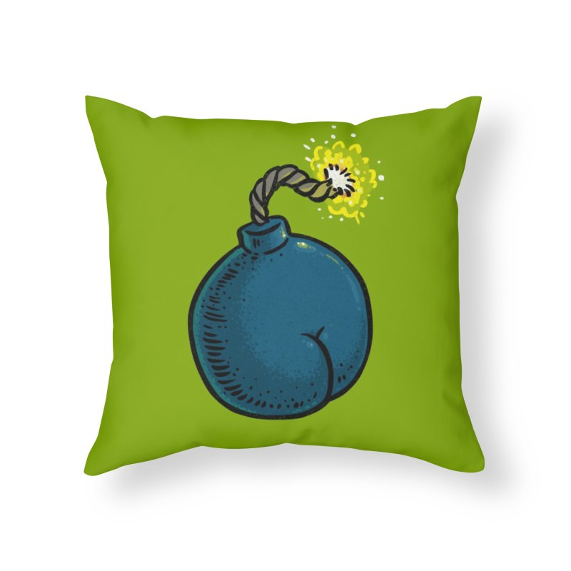 Butt Bomb Home Throw Pillow by Brian Cook