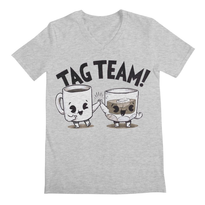 Tag Team Men's V-Neck by Brian Cook