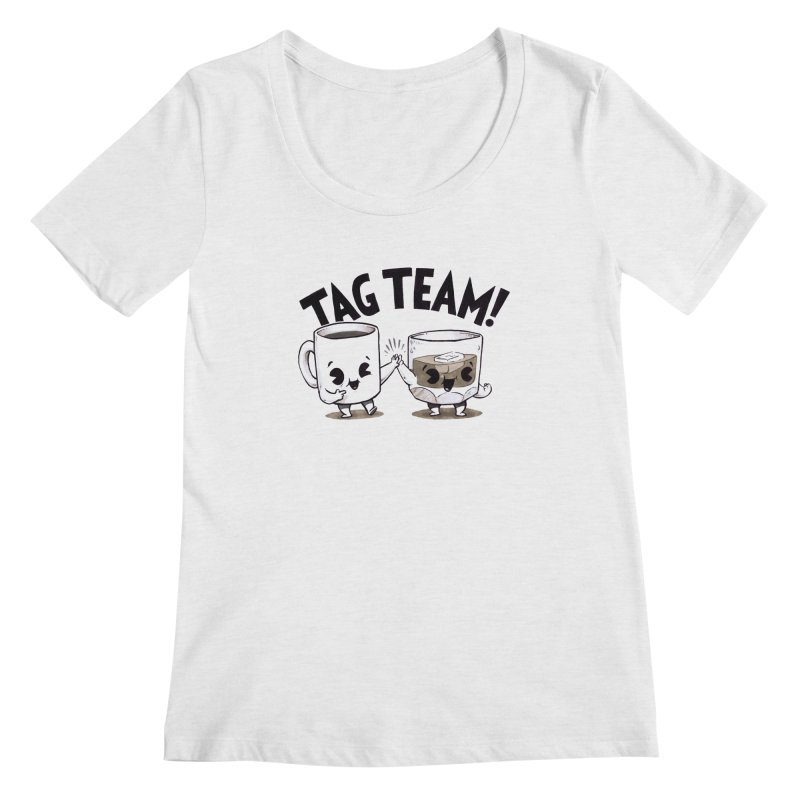 Tag Team Women's Scoopneck by Brian Cook