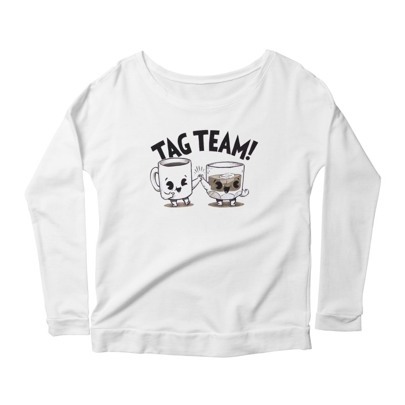 Tag Team Women's Longsleeve Scoopneck  by Brian Cook