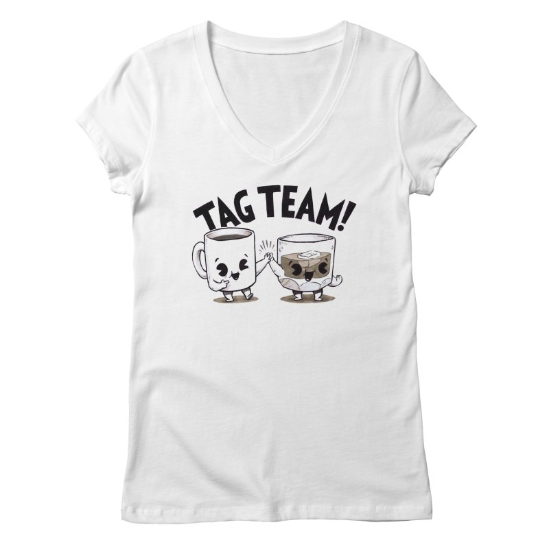 Tag Team Women's V-Neck by Brian Cook