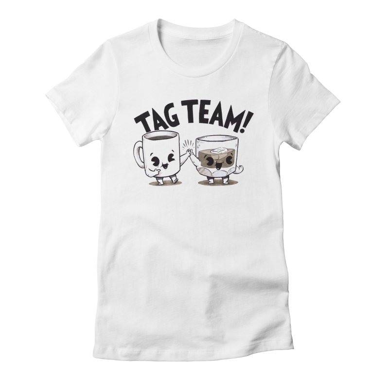 Tag Team Women's Fitted T-Shirt by Brian Cook