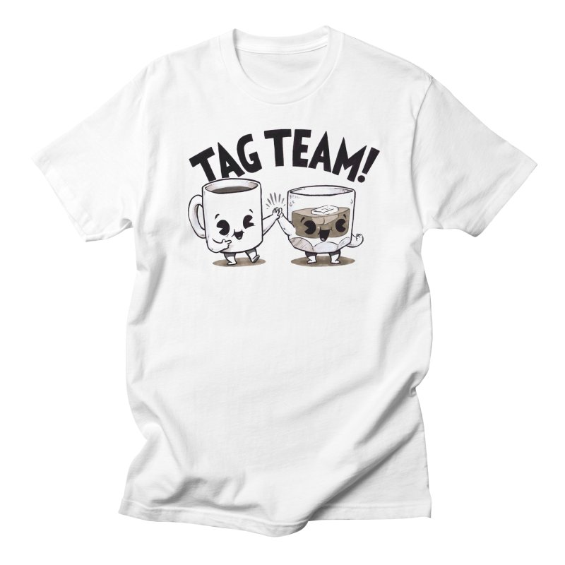 Tag Team in Men's Regular T-Shirt White by Brian Cook