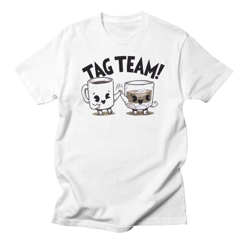 Tag Team in Men's T-Shirt White by Brian Cook