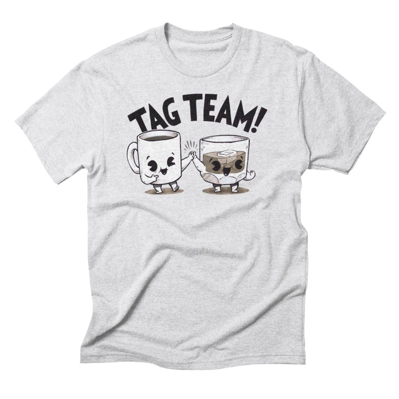 Tag Team in Men's Triblend T-Shirt Heather White by Brian Cook