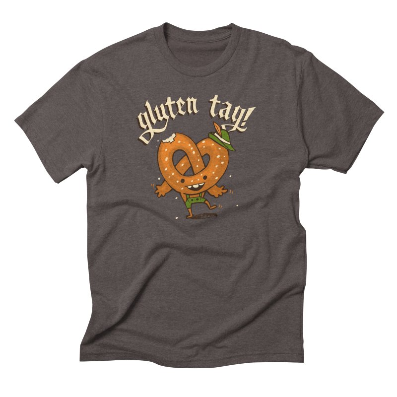 Gluten Tag in Men's Triblend T-Shirt Tri-Coffee by Brian Cook