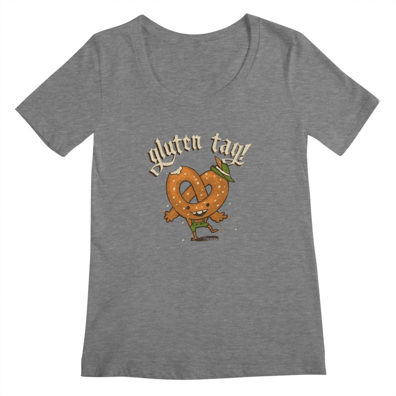 Gluten Tag Women's Scoopneck by Brian Cook