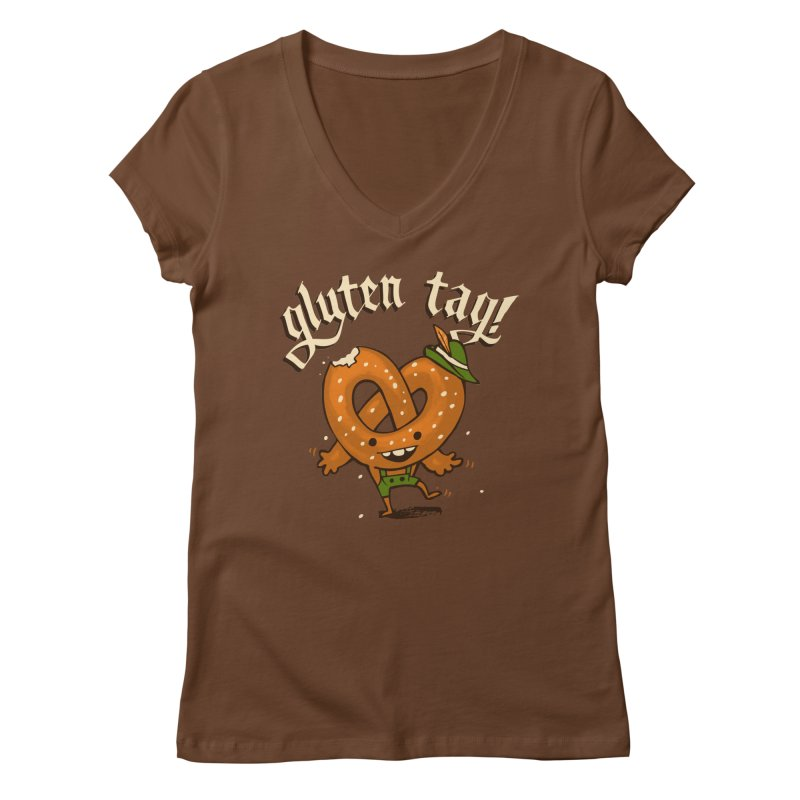 Gluten Tag Women's V-Neck by Brian Cook