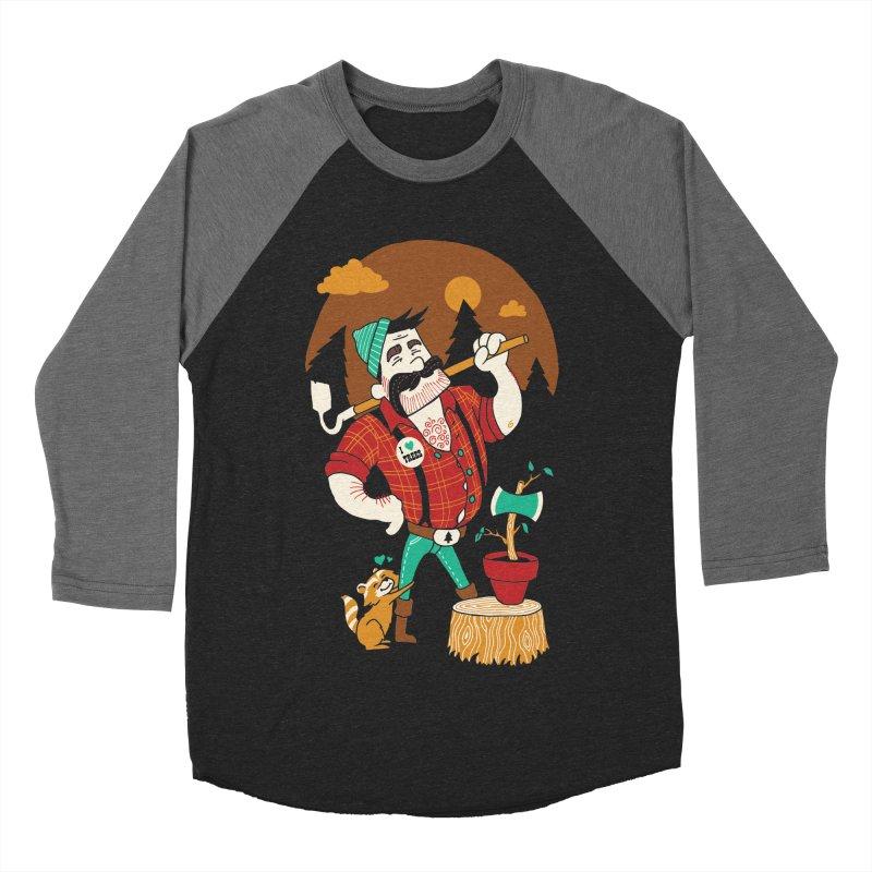 Green Thumberjack Women's Baseball Triblend T-Shirt by Brian Cook