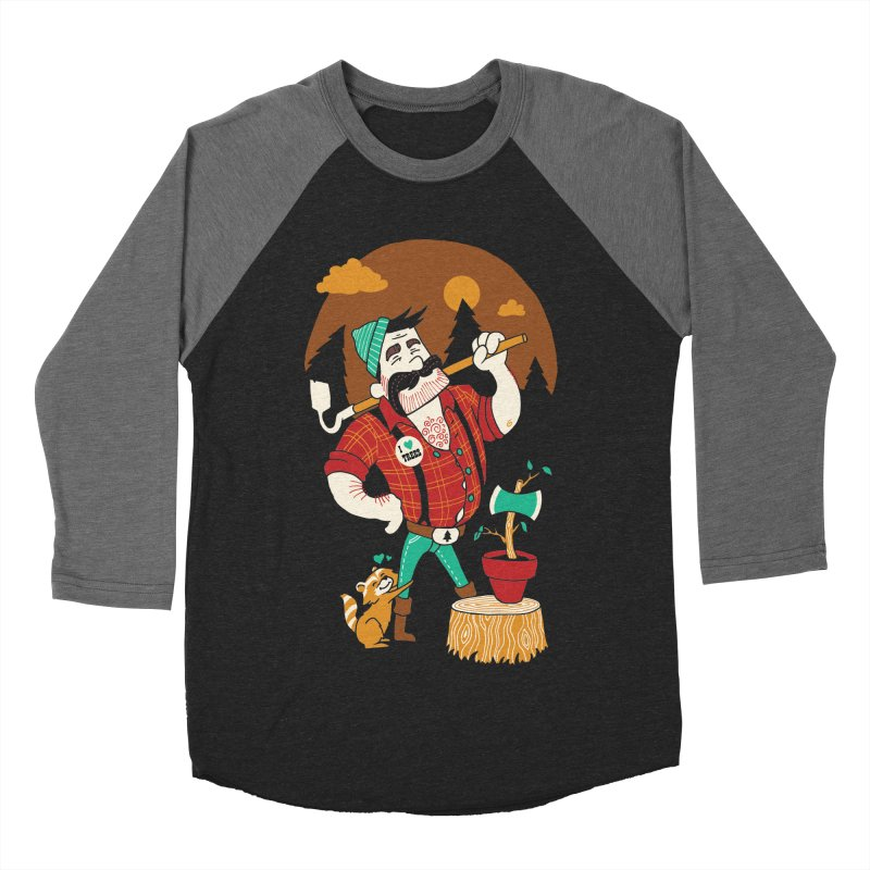 Green Thumberjack Men's Baseball Triblend T-Shirt by Brian Cook