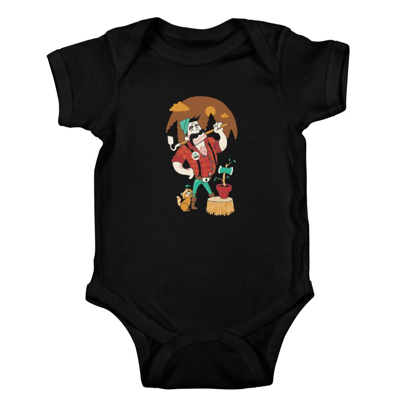 Green Thumberjack Kids Baby Bodysuit by Brian Cook