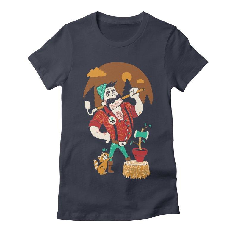 Green Thumberjack Women's Fitted T-Shirt by Brian Cook