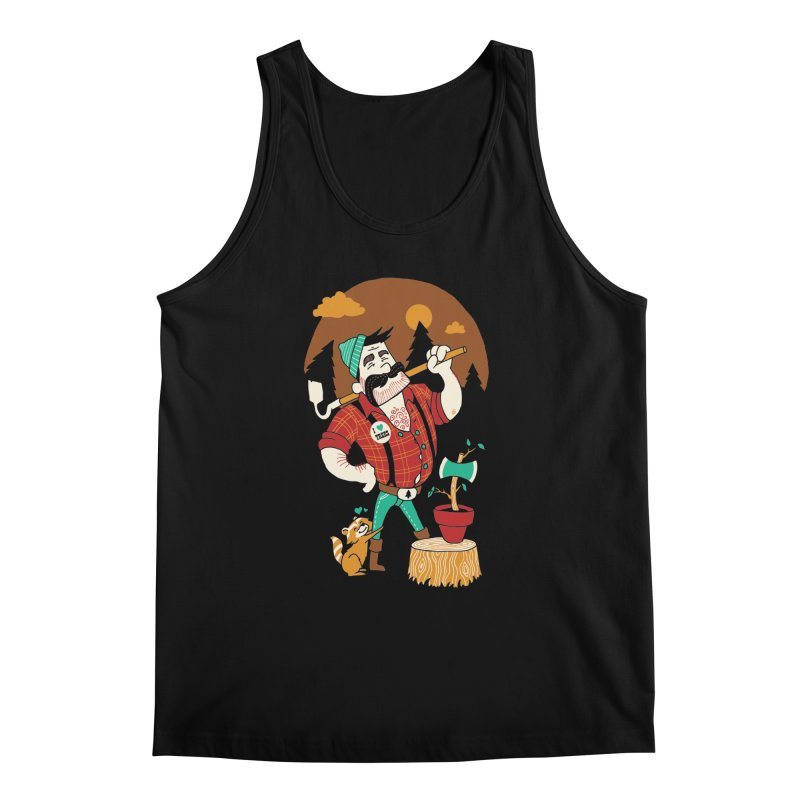 Green Thumberjack Men's Tank by Brian Cook